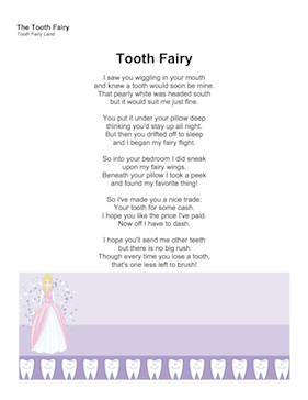 Tooth Fairy Poem