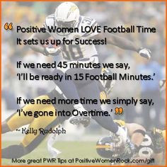 GREAT reason for Positive Women to love football! PositiveWomenRock ...