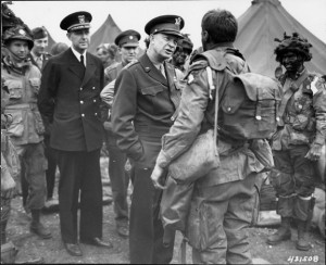 General Dwight D. Eisenhower Talking to Troops