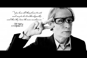 WALLPAPER: Bill Nighy quote on acting with photo