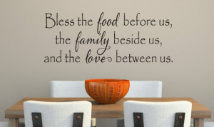 Bless The Food Before Us Wall Decal - Kitchen Vinyl Decal - Bless Our ...