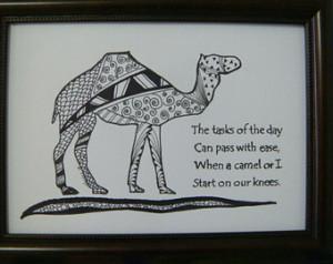 Camel AA Recovery Gift Al-Anon NA Sponsor Spiritual 12 step ...