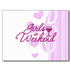 girls weekend night out party bridal wedding fun post cards
