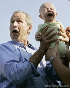 George Bush And Baby