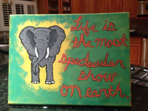 Water for elephants quote drawing/painting crafts on canvas for ...