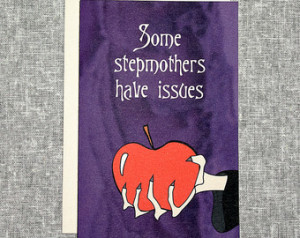 Stepmother Card Funny Wicked Fairyt ale Apple Snow White ...