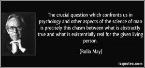 The crucial question which confronts us in psychology and other ...