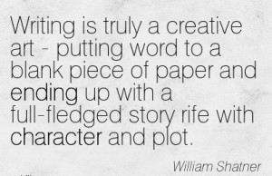 truly-a-creative-art-putting-word-to-a-blank-piece-of-paper-and-ending ...