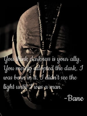 Bane Quotes #quotes by bane, batman the