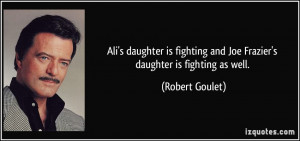 Ali's daughter is fighting and Joe Frazier's daughter is fighting as ...
