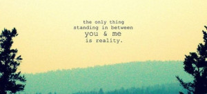 The Only Thing Standing Between You & Me