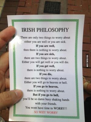 Why worry Irish policy