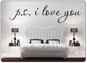 Promotion-PS-I-LOVE-YOU-Famous-Wall-Decal-Quote-sayings-Black-Letter ...