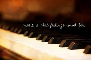 bokeh, feelings, music, piano, quote, saying