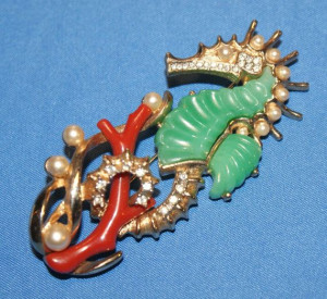 Vintage Rare Seahorse Brooch by Hattie Carnegie KJL on Etsy, $249.99 ...