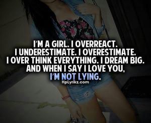 not lying