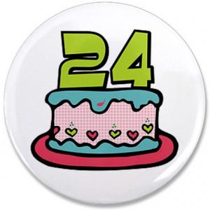 24 Birthday Gifts > 24 Birthday Buttons > 24th Birthday Cake 3.5 ...