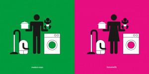 Des pictogrammes pour dénoncer les inégalités hommes femmes
