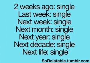 Kinda getting tired of being single all the time..
