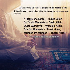 Be thankful to Allah.