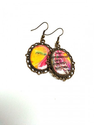 Earrings with inspirational quotes. Resin by AgnesJewels on Etsy, £4 ...
