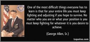 More George Allen, Sr. Quotes
