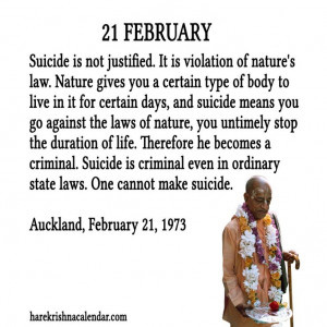 Srila Prabhupada Quote for 20 Feb 2014