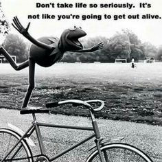 ... muppet, bicycle, cykel, bike, wheels, balance, wisdom, citat, quote