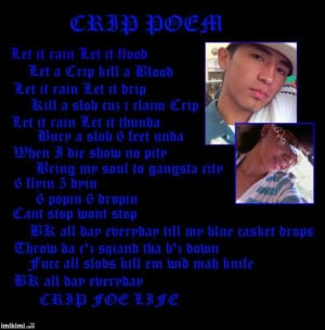 Crip Sayings Crip poem image