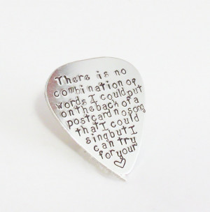 Love quotes Guitar Pick-Perfect Gift for a Grooms Wedding gift-husband ...