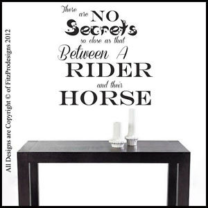 Horse-Wall-Sticker-Quotes-Wall-Decals-Wall-Art-Graphics-NO-SECRETS
