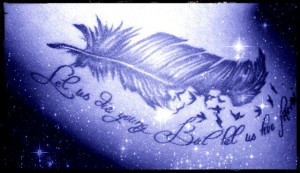 feather quote tattoos