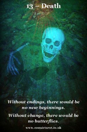 ... introduce you to the latest addition to my Tarot of Quotes: Death
