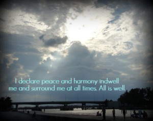harmony love peace dreamosity Whats good about a cold? Not much… but ...