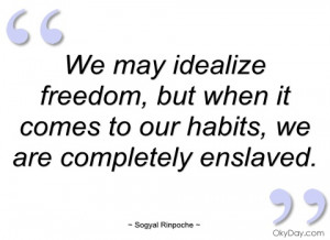 we may idealize freedom sogyal rinpoche