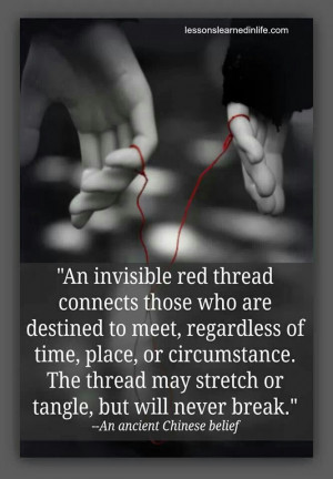 An invisible red thread