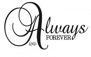 Always And Forever Wall Decal