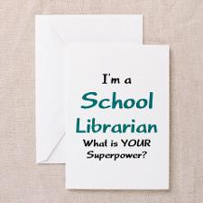 school librarian Greeting Card for