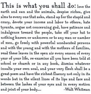 Quotable: Walt Whitman on independence