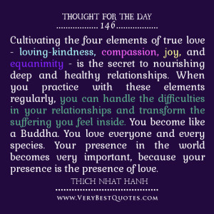 ... the four elements of true love, love quotes, thought of the day