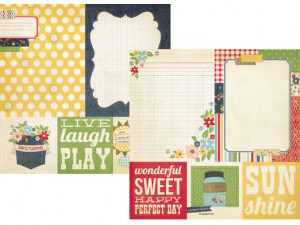 Simple Stories - Summer Fresh Collection - 12 x 12 Double Sided Paper ...