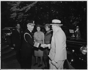 :Fleet Admiral William Leahy greets Prime Minister Winston Churchill ...