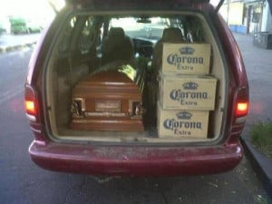 Funny Funeral Coffin Beer Hearse Picture Photo Joke