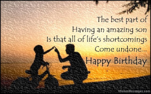 ... son from father and mother Birthday Wishes for Son: Quotes and