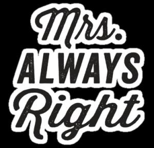 ABFTs › Portfolio › Mrs. Always Right / Mr. Never Right 1/2, Black ...