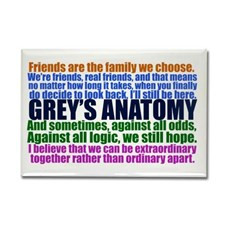 Grey's Anatomy Collage Rectangle Magnet for