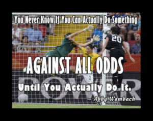 Soccer Poster Abby Wambach Olympic Soccer Photo Quote Wall Art Poster ...