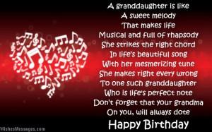 granddaughter birthday poems from grandma