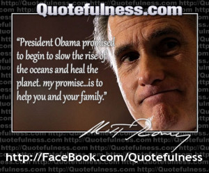 Obama Promised to Slow the Rise of the Oceans, Romney's Promise ...