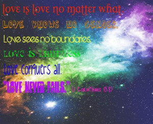 Love is love no matter what love knows no gender. love sees no ...
